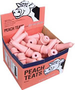 Milkflo Screw-in Peach Teats